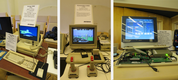 Amiga 3000, Commodore 64GS ja Amiga 600 + Cyclone II accelerator